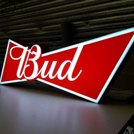 Фото Рекламная вывеска Bud